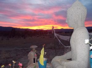Sunset View Pine Mountain Buddhist Temple