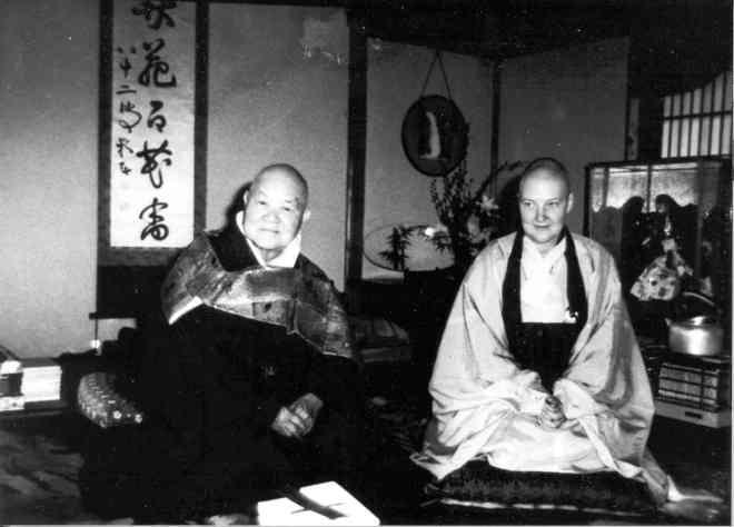 Zen Master Keido Chisan Koho and Rev. Jiyu-Kennett in Sojiji
