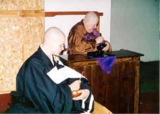 Rev. M. Jiyu, right, and Rev. Phoebe