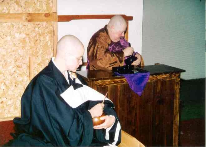 Rev. M. Jiyu, right, and Rev. Phoebe