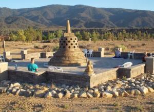 Meditation at the Stupa